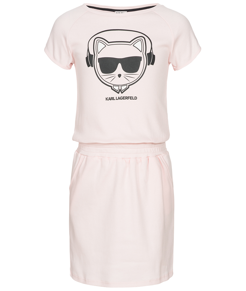 Karl Lagerfeld Kleid mit Print in rosa