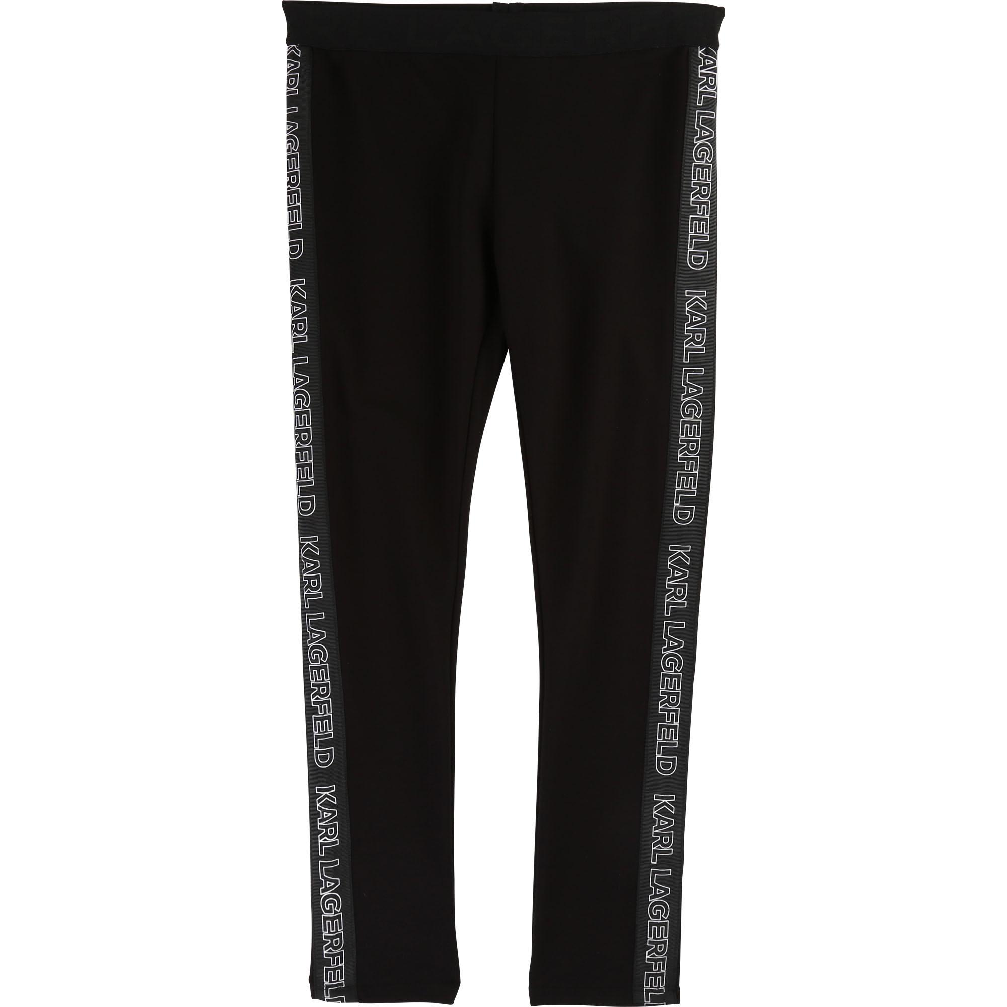 Karl Lagerfeld Leggings mit Track Stripes - schwarz