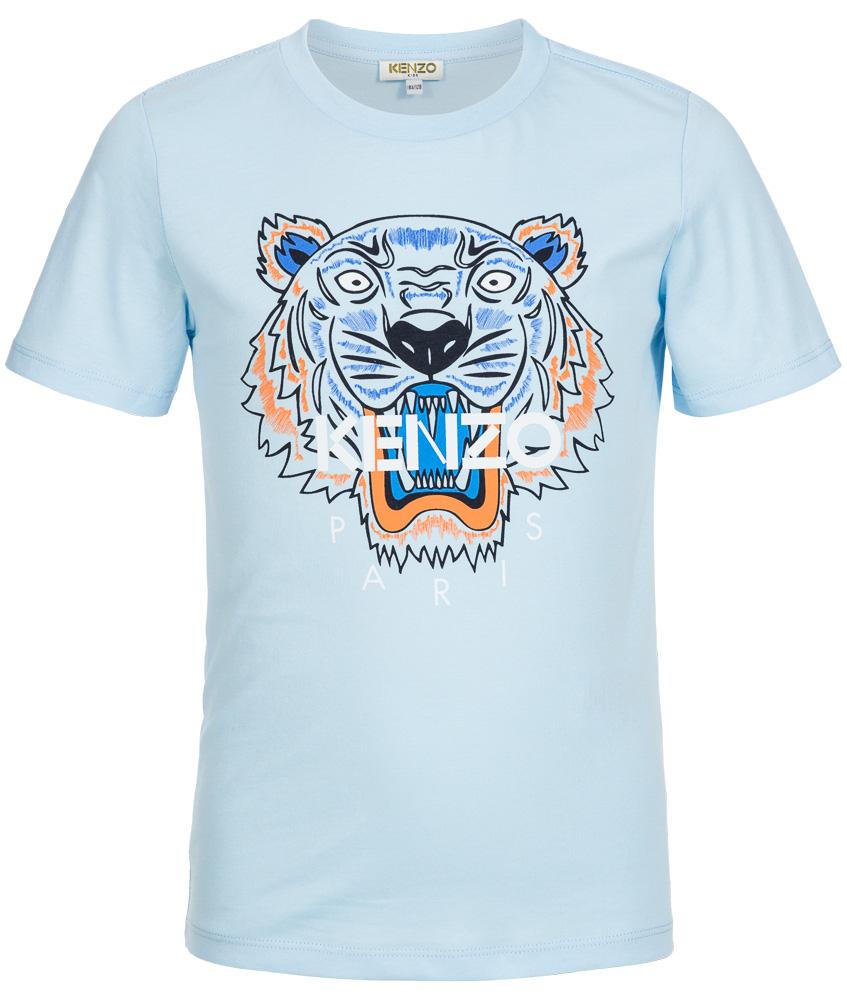 T-Shirt in hellblau  mit Tiger Aufdruck