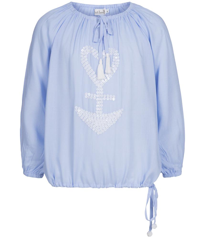 Bluse Pailetten Handmade in lavender
