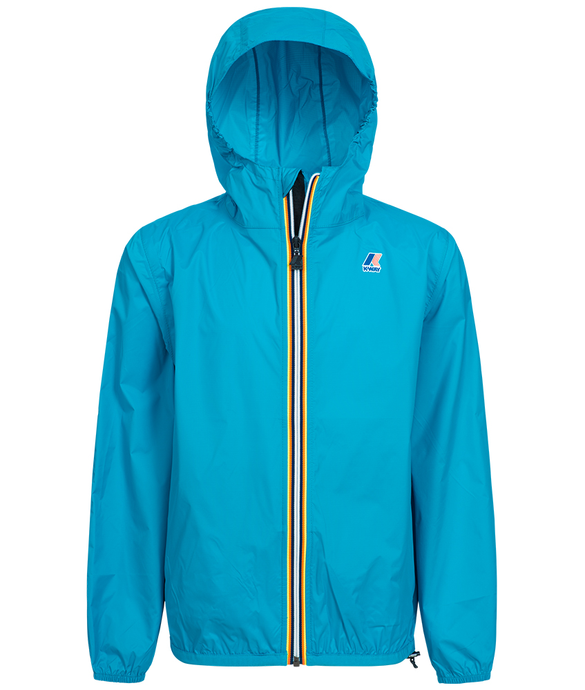 K-Way Claudinwaterproof rain jacket in turquoise