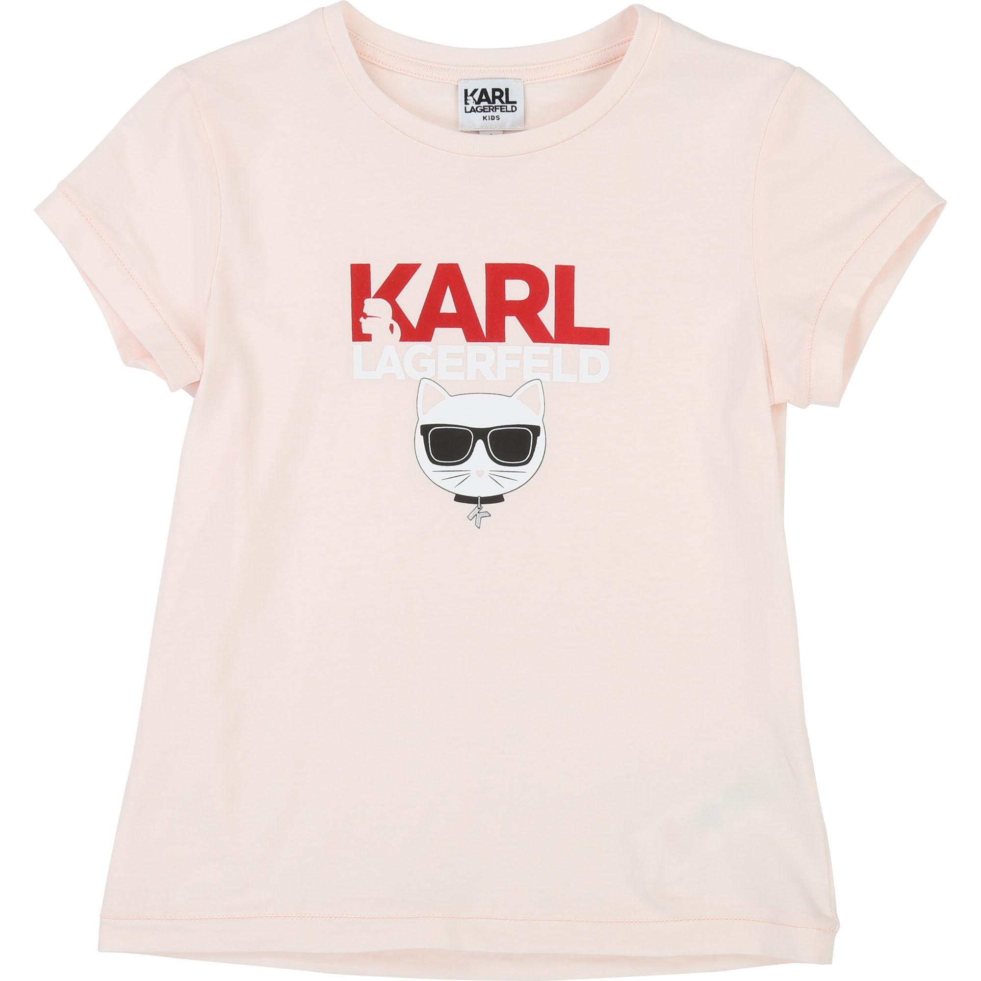 Karl Lagerfeld Choupette Logo T-Shirt - rosa