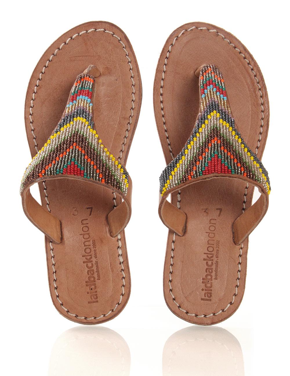 Leder-Sandale in brown