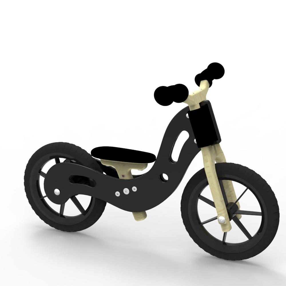Woodywheelers Laufrad Boogey - schwarz