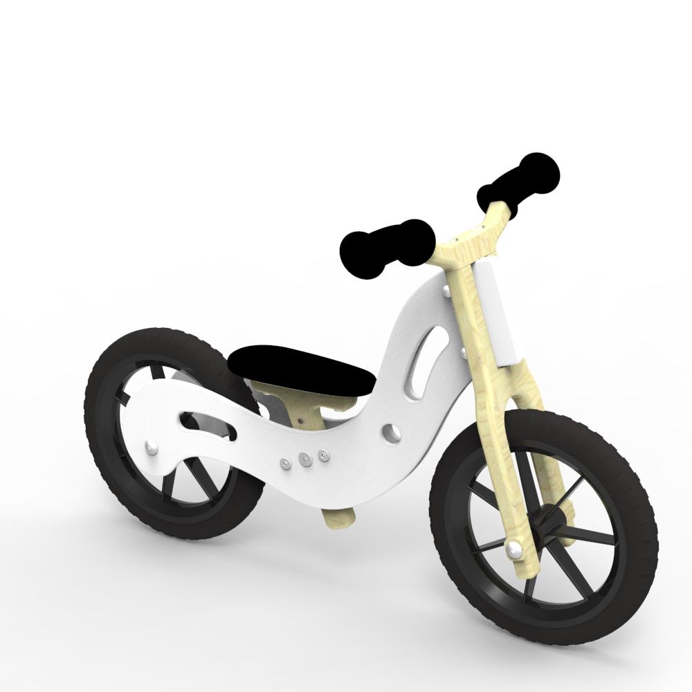 Woodywheelers Laufrad Boogey - weiß
