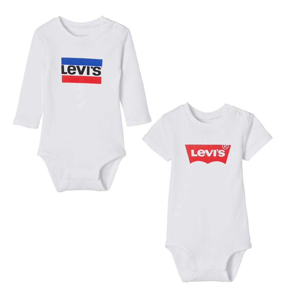 Levi's Baby Body Set Classic + Hero Logo - weiß