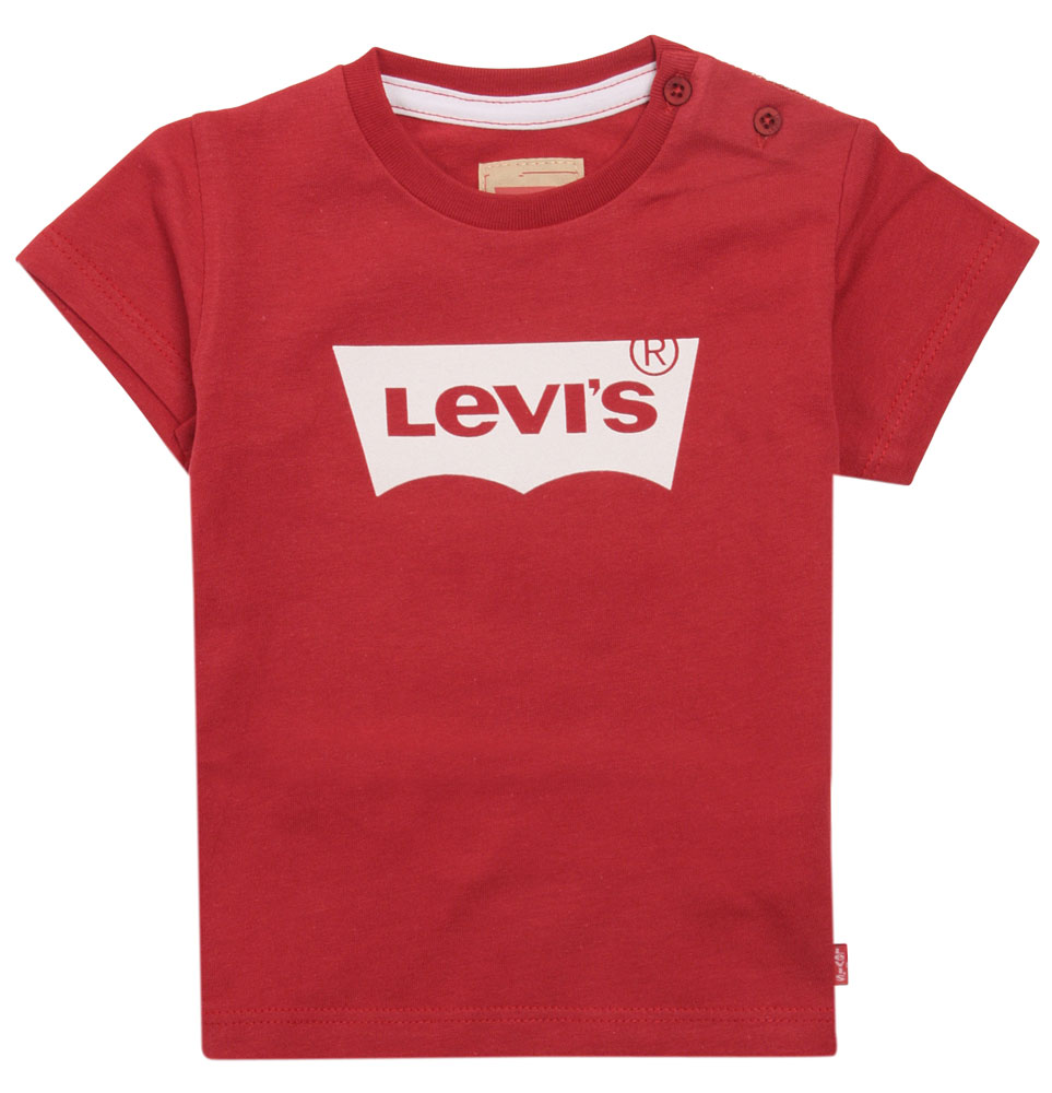 Levis Logo Baby Shirt in rot