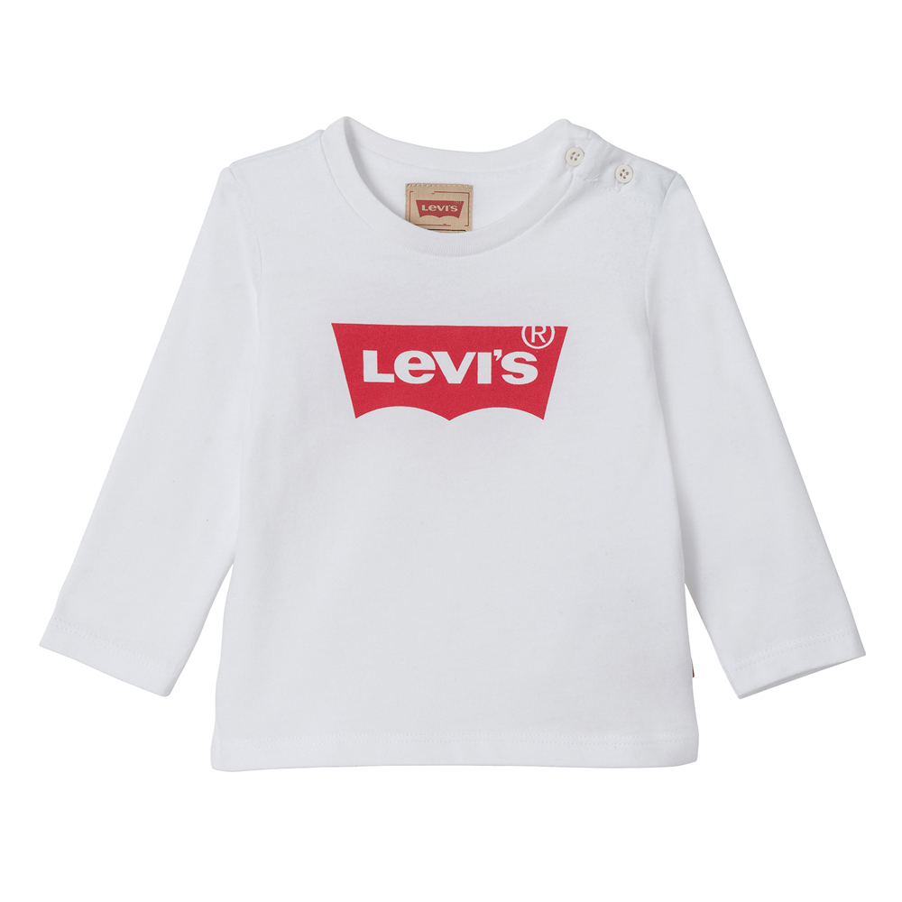 Levi's Baby longsleeve Bat with basic logo in white