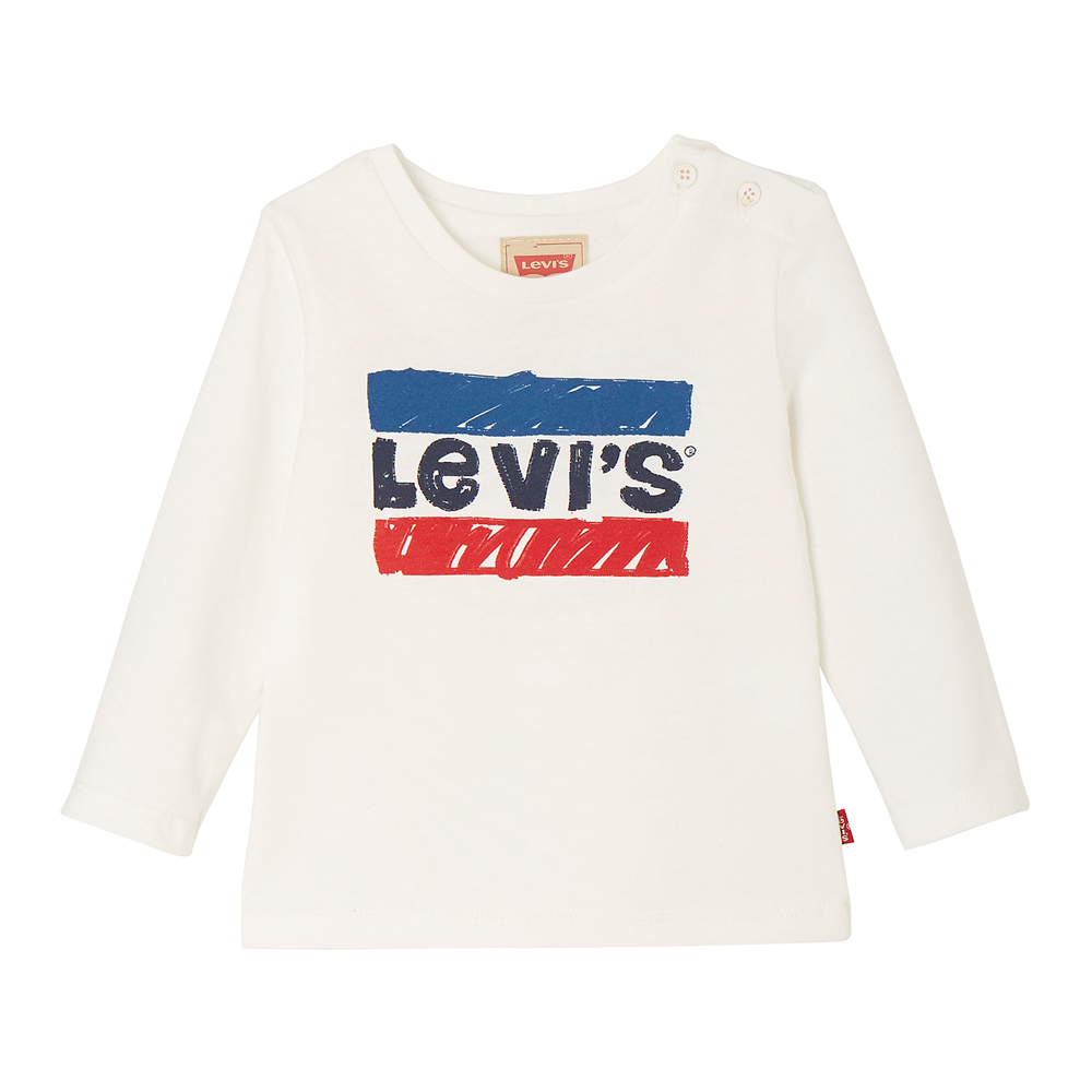 Levi's Baby longsleeve Ben with Hero logo in off-white
