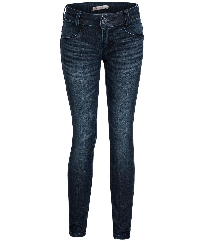 kids style lounge levis 710 super skinny jeans mit glitzer in blau kindermode online kaufen. Black Bedroom Furniture Sets. Home Design Ideas