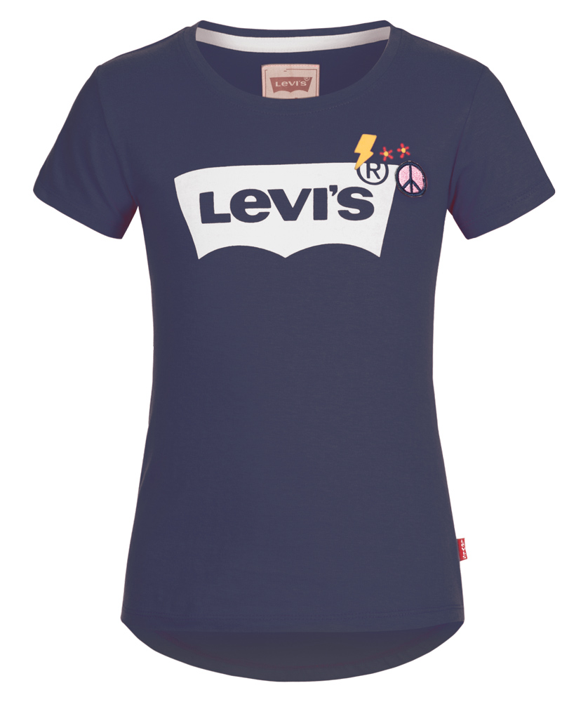 Levi´s T-Shirt mit Patches in dunkelblau
