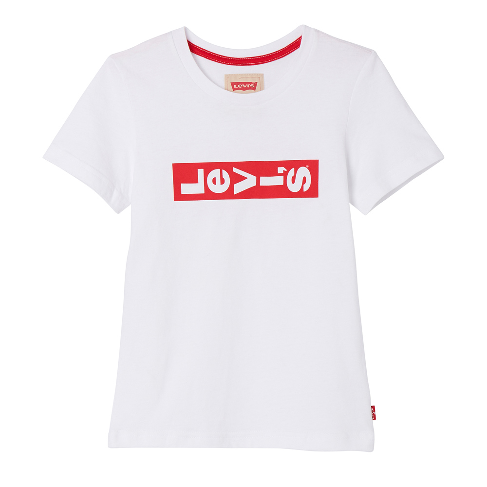 Levi's t-shirt Lazytee with lenghtwise Logo - white