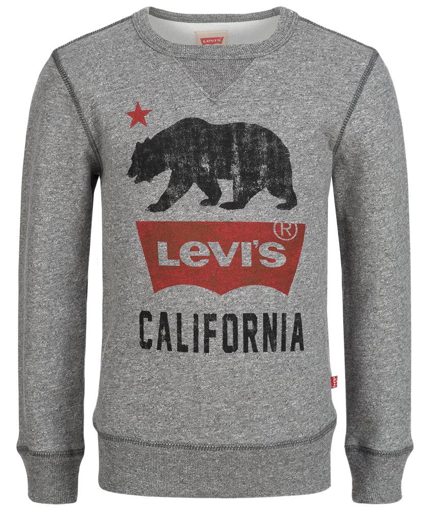 Levis Sweatshirt mit Aufdruck in grau meliert