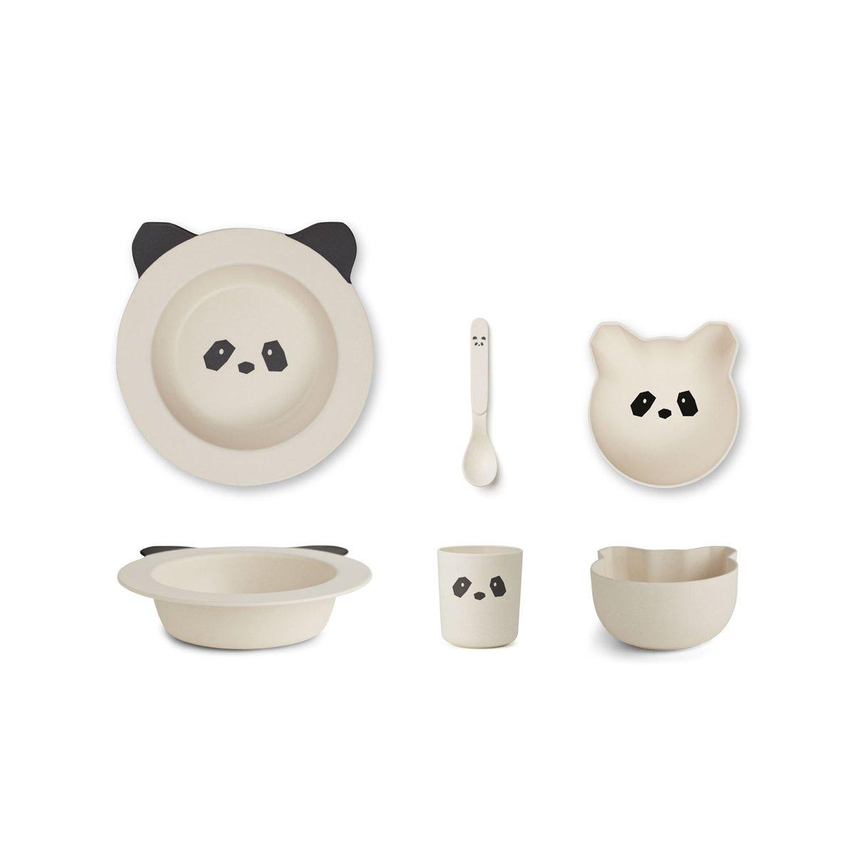 Liewood Barbara bamboo box set Panda - cream