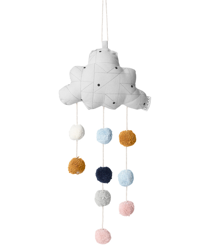 Liewood Mobile Clara with pompoms of 100% organic cotton