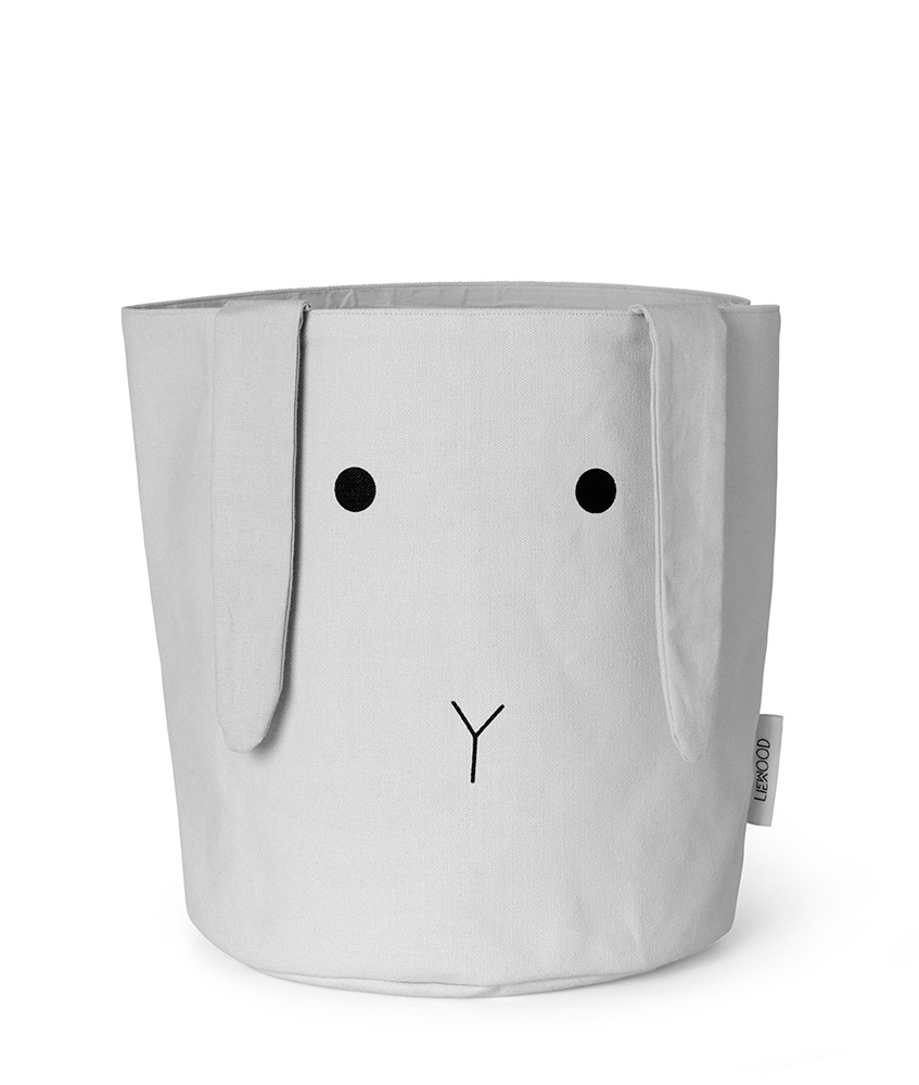Liewood basket Ella Rabbit of 100% organic cotton - grey