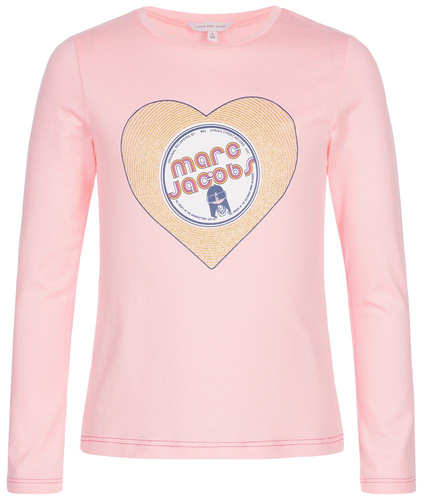 Little Marc Jacobs Glitzer Herz Shirt in rosa