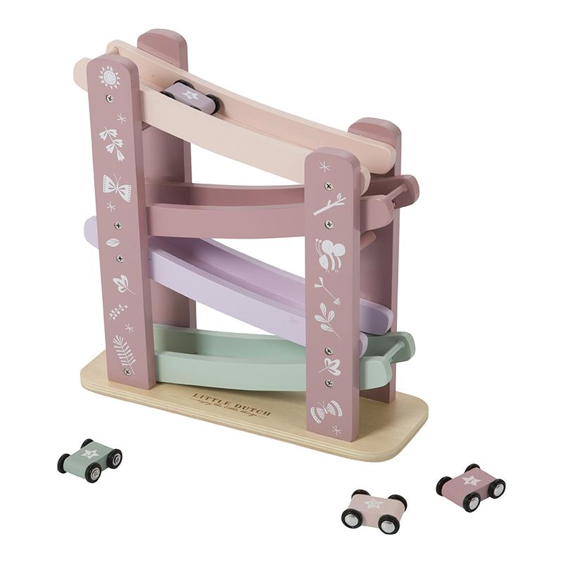 Little Dutch Holz Rennbahn -  pink
