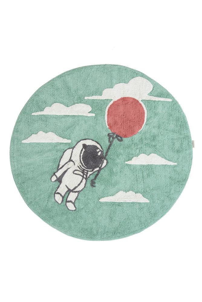Minividuals Teppich Astronaut mit Ballon rund - 150cm