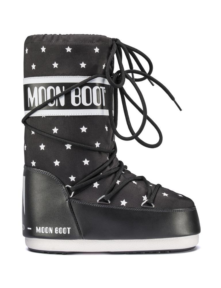Moon Boots JR Girl mit Sternen in schwarz