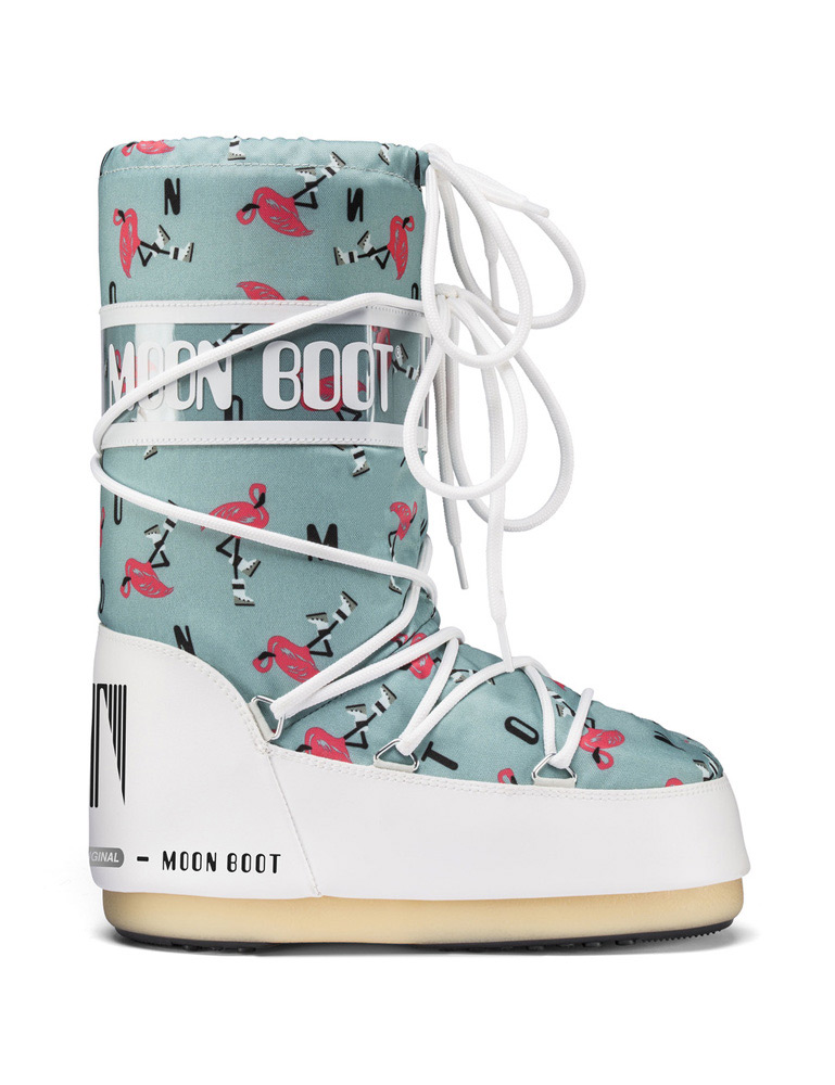 Moon Boot JR Girl Flamingo in aqua