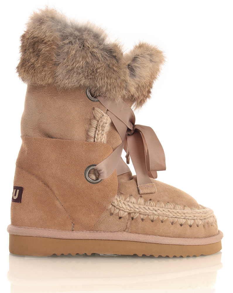 Mou Eskimo Lace and Fur in camel