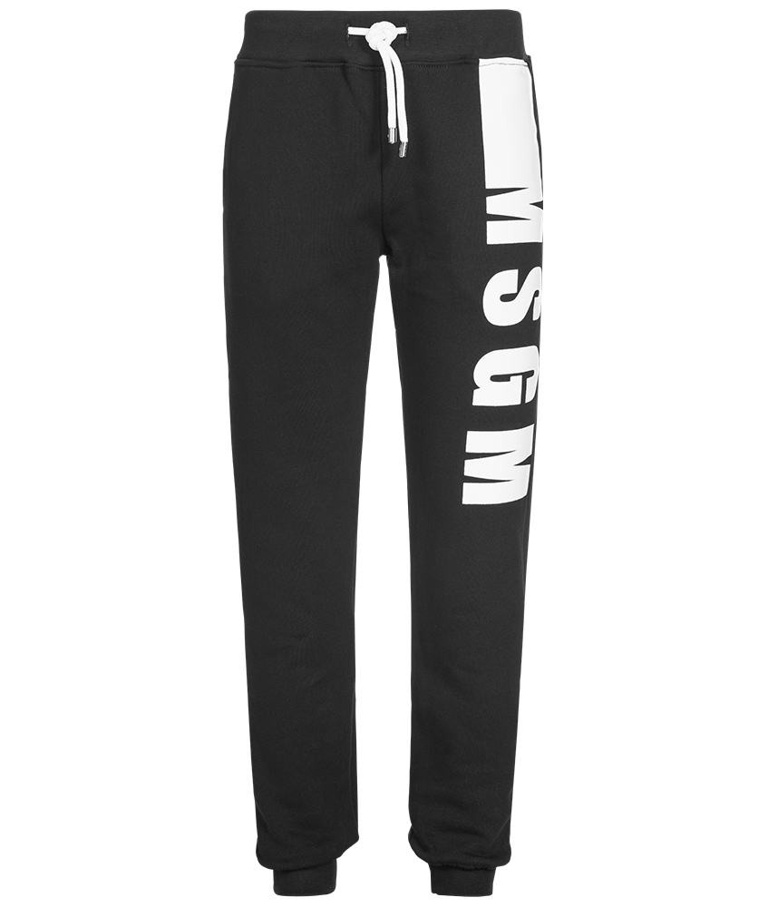 MSGM Sweatpants mit Logo-Print in schwarz
