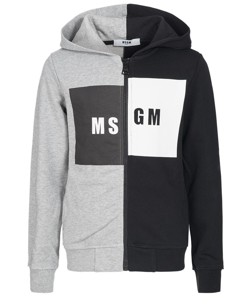 MSGM Kapuzenjacke in grau-schwarz