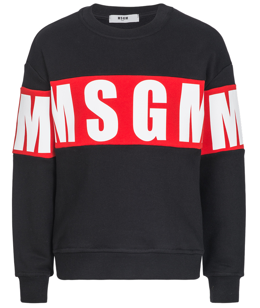 MSGM Logo Sweatshirt schwarz