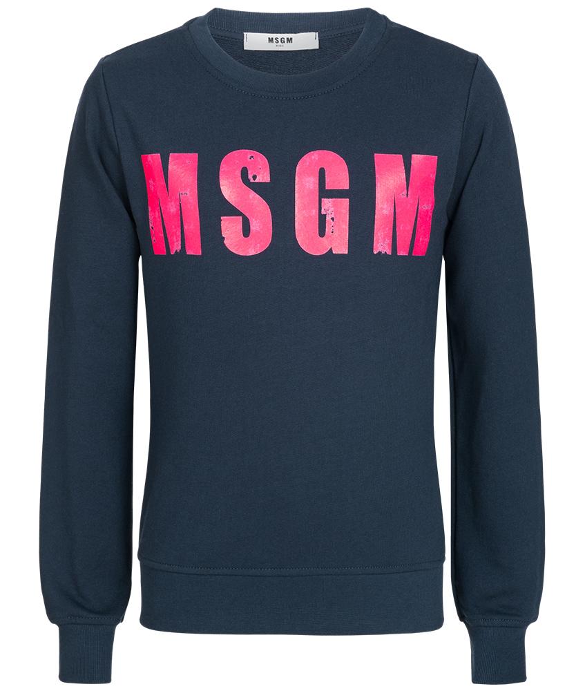 MSGM Sweatshirt mit Print in blau