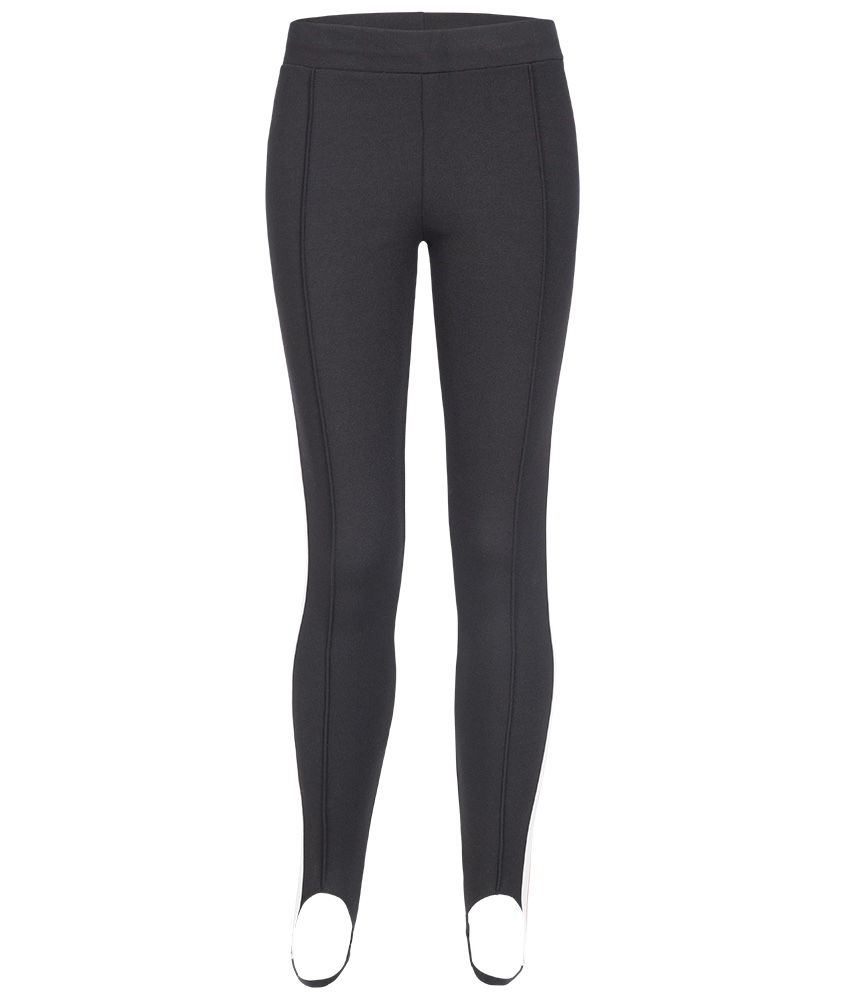 MSGM Jeggins mit Track Stripes in schwarz