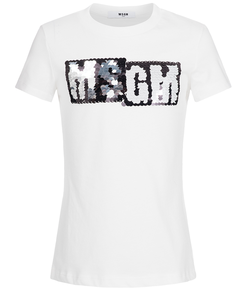 kids style lounge msgm shirt mit logo aus beweglichen. Black Bedroom Furniture Sets. Home Design Ideas
