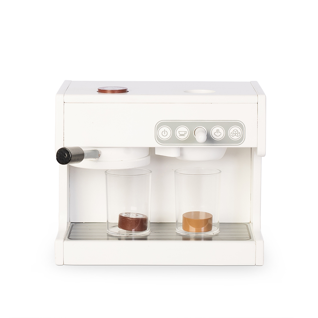 MaMaMeMo Holz Espresso Maschine - weiß