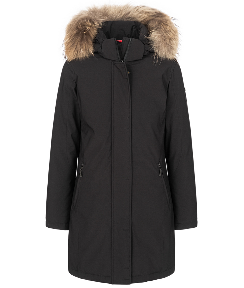 Mc Ross Nice down parka with real fur - black