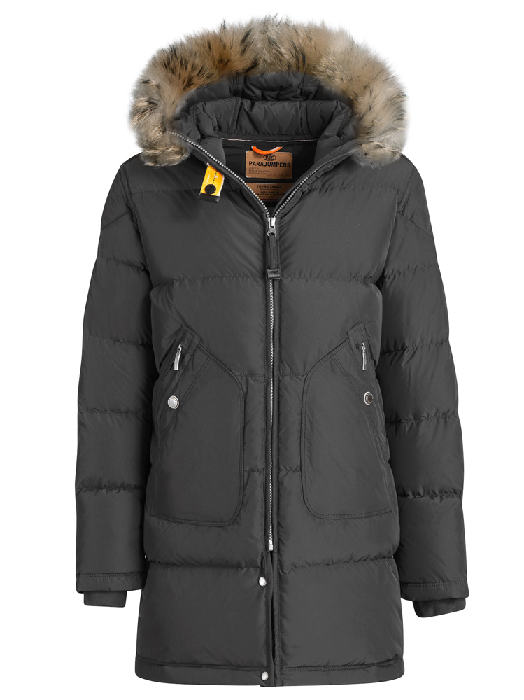 Parajumpers Daunenparka Light Long Bear in asphalt grau