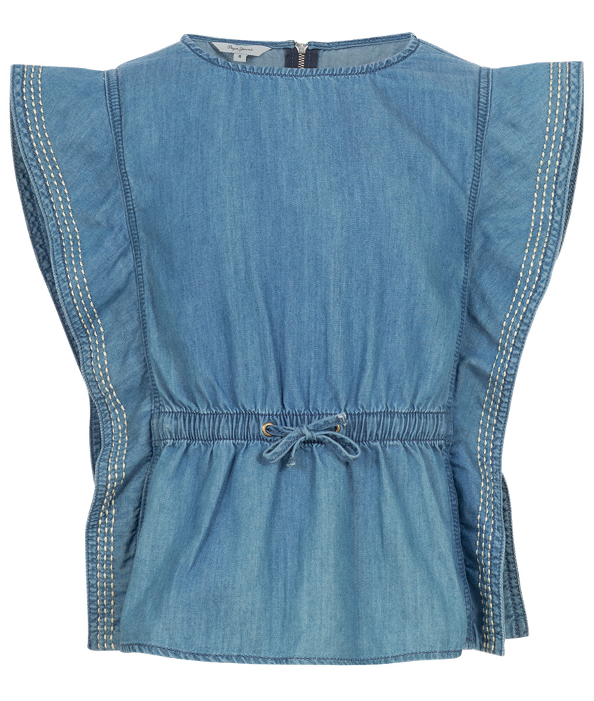 Pepe blouse shirt Butterfly in denim