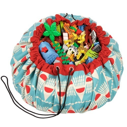 Play&Go 2in1 Toy Storage Bags & Playmat Badminton