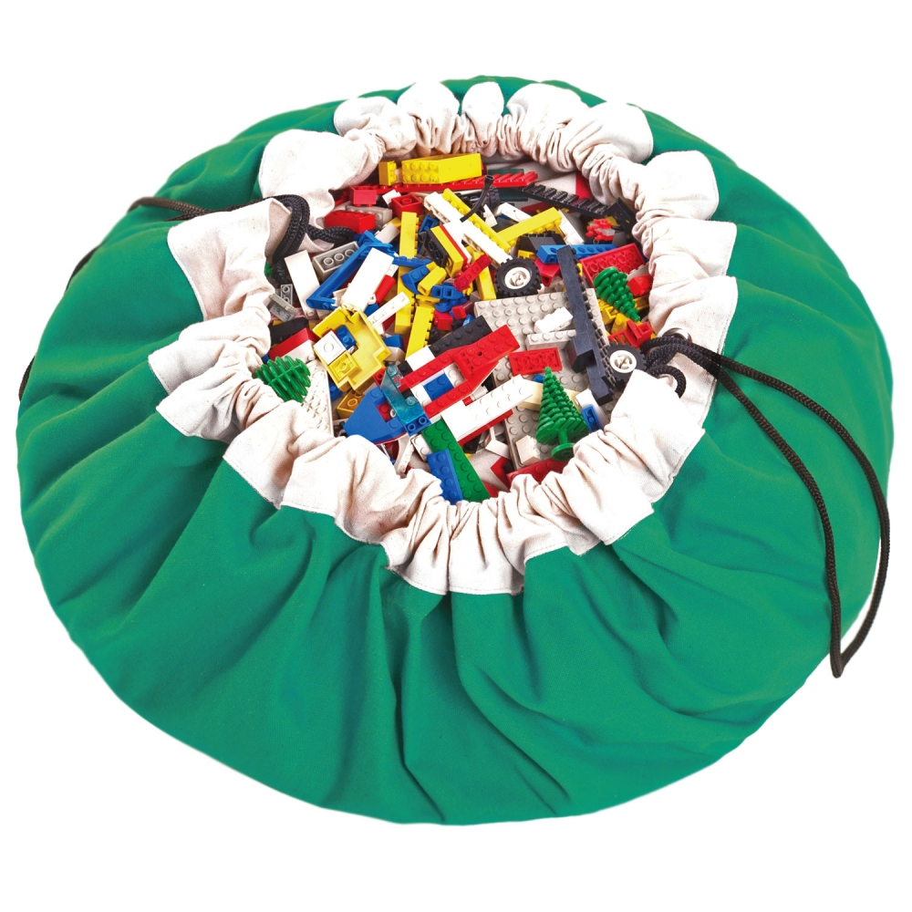 Play&Go 2in1 Toy Storage Bags & Playmat in green