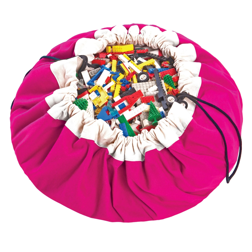 Play&Go 2in1 Toy Storage Bags & Playmat in pink