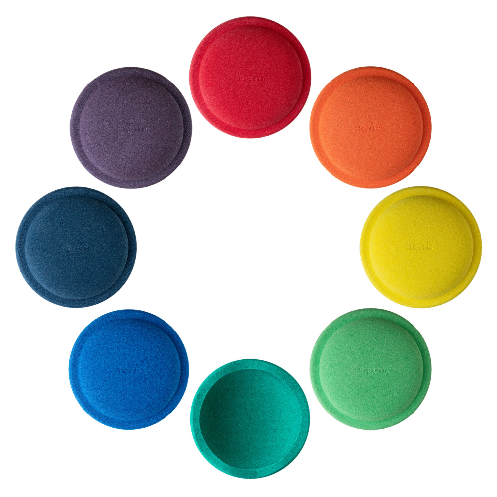 Stapelstein Rainbow Great, 8 Steine - Bunt