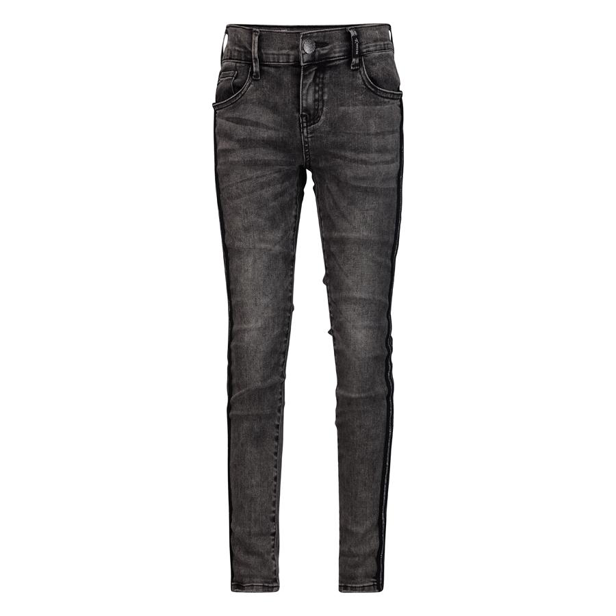 Retour skinny jeans Ivory with track stripes - grey
