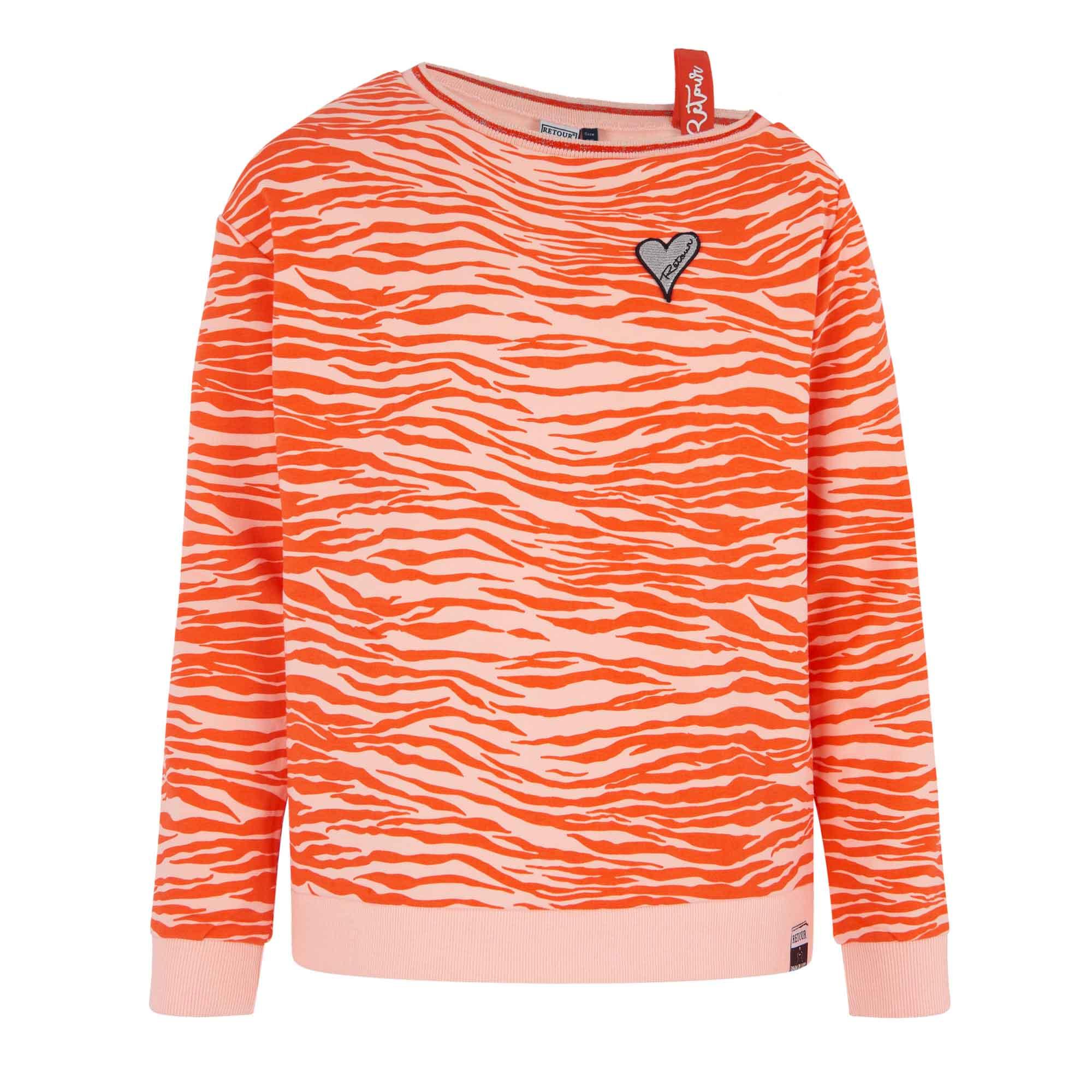 Retour Sweatshirt Jill mit Lurex - orange