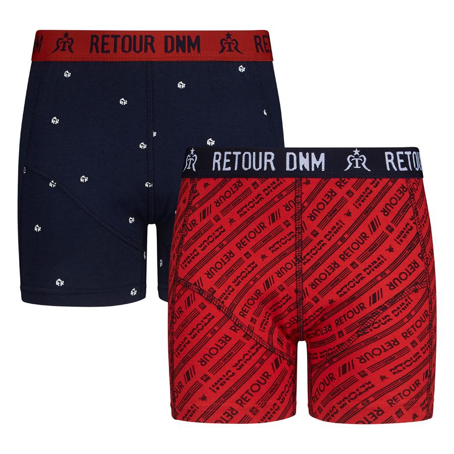 Retour Jungen Boxer Set Bjorn - rot/navy