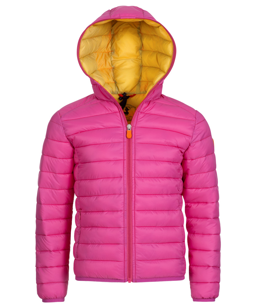 Save the Duck GIGA6 Kinderjacke aus Plumtech in pink