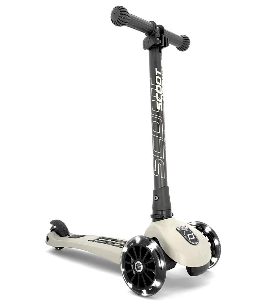 Scoot & Ride Highwaykick 3 mit LED Rädern - ash