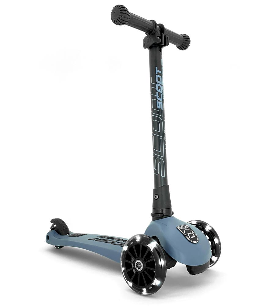 Scoot & Ride Highwaykick 3 mit LED Rädern - steel