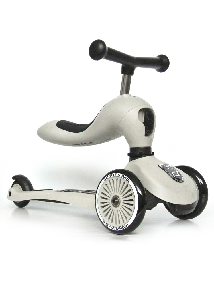 Scoot & Ride 2 in 1 Highwaykick1 - ash