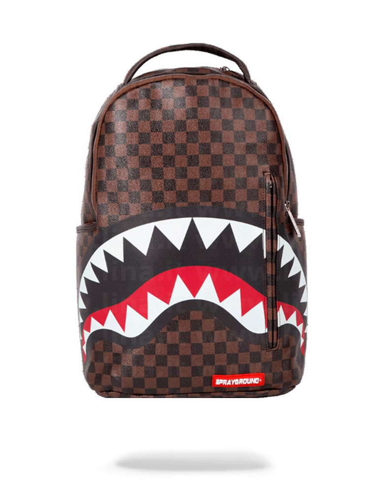 Sprayground Rucksack Shark in Paris mit goldenem Zipper