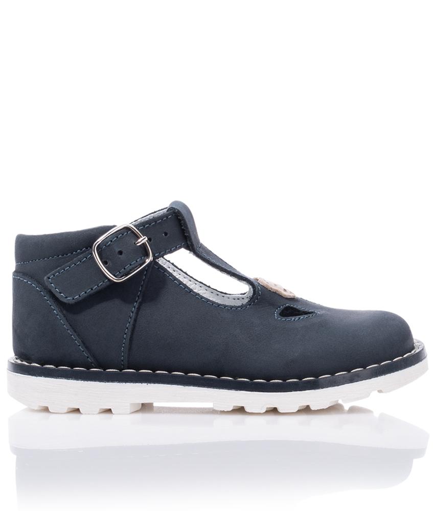 Steiff straps leather shoes Maalia - navy