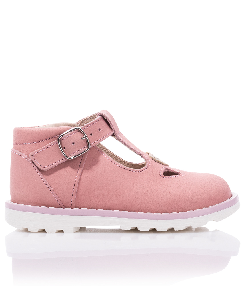 Steiff straps leather shoes Maalia - pink